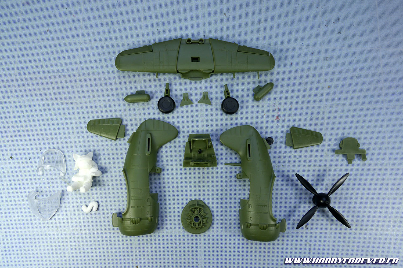 Les différents éléments composant ce Nakajima Ki-84