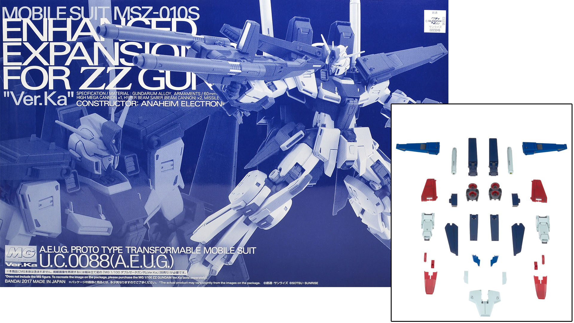 Le kit de convertion pour changer le MG ZZ Gundam ver.Ka en  ZZ Gundam Enhanced