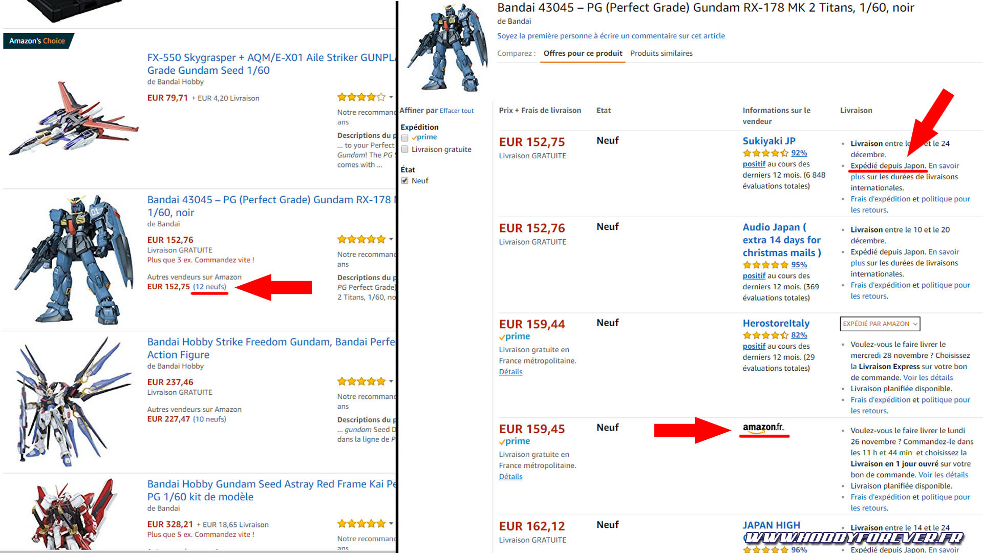 Attention certains vendeurs sur Amazon sont basés au Japon