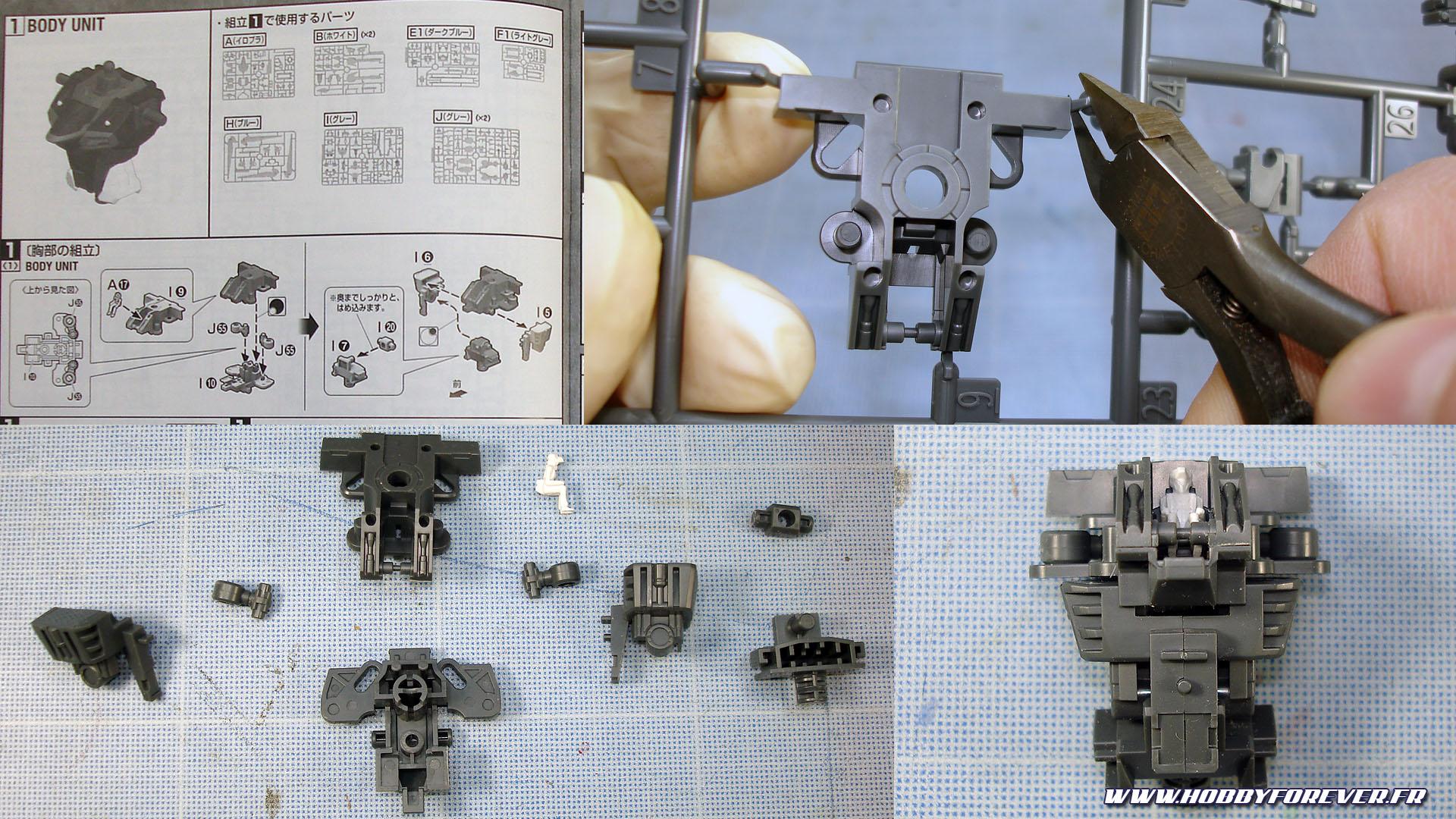 Réalisation d'un Gunpla à l'aérographe - I. Préparation et montage à blanc