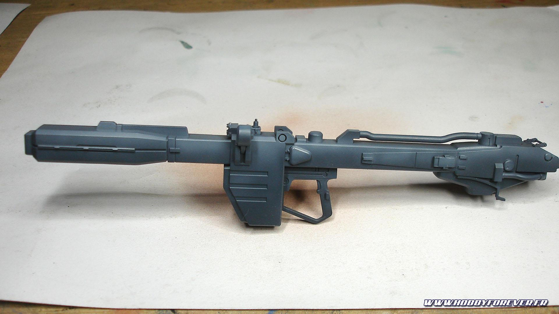 Le bazooka avec un petit effet de lumière zénithale
