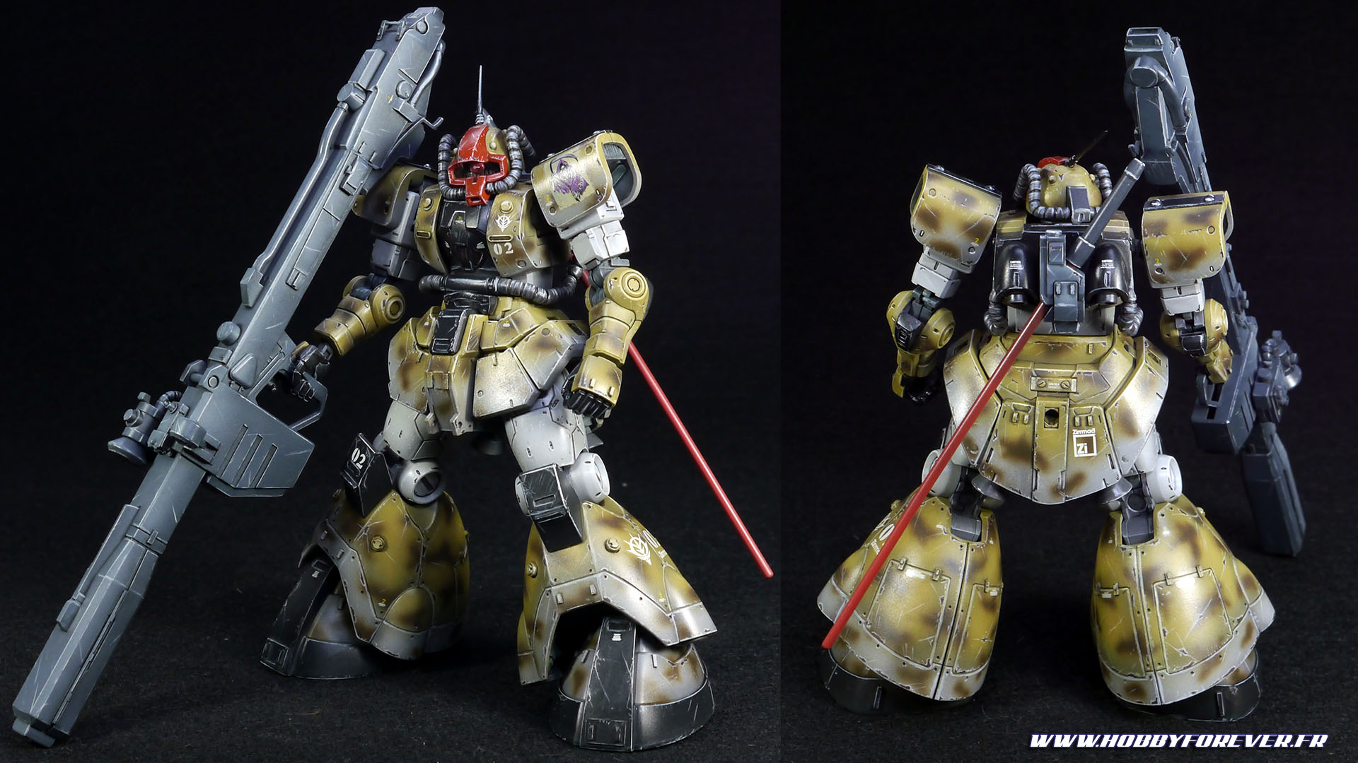 Finished work - HG YMS-08B Dom Test Type Desert Op.