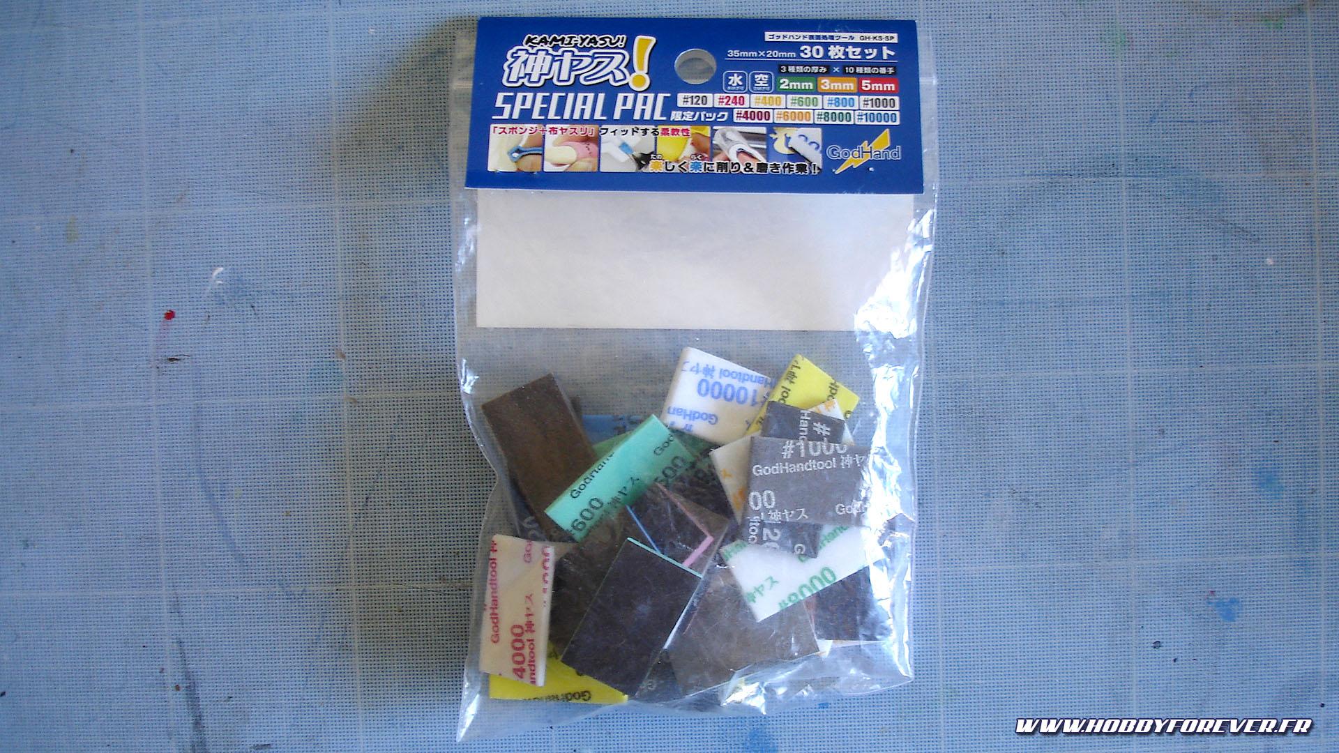 "Review - Les éponges abrasives GodHand ""Kami-Yasu! Sponge cloth file Special Pack"""