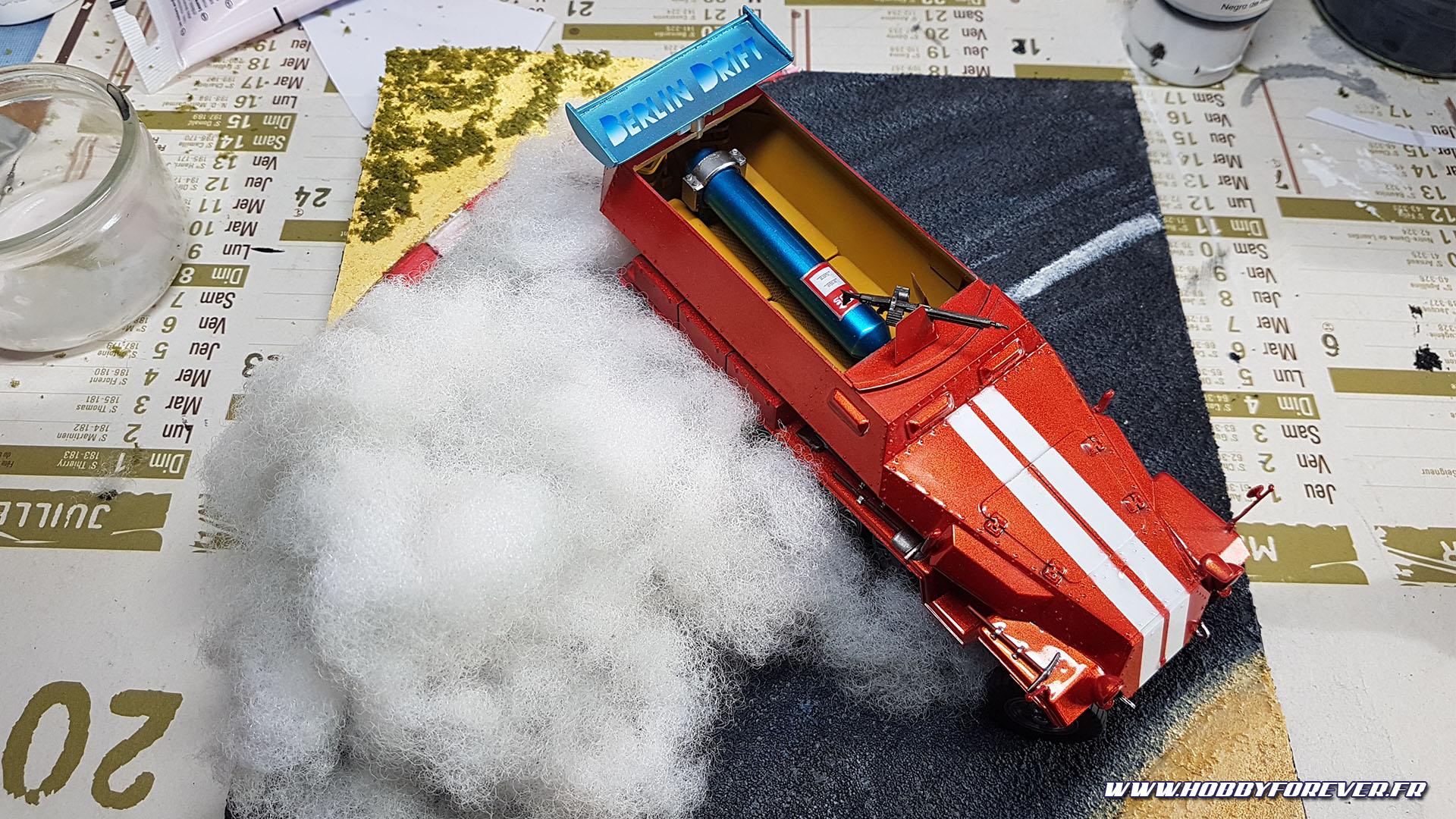 Diorama Sdkfz.251 Racing, un blindé en plein drift !