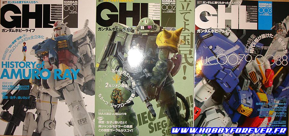 Les 3 premiers numéros de GHL, sortis en juillet, octobre et décembre 2013.