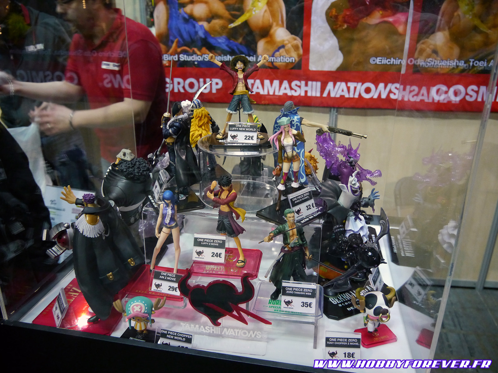 Le stand Tamashii Nation de Bandai était vraiment petit. Ici quelques-unes des figurines exposées.