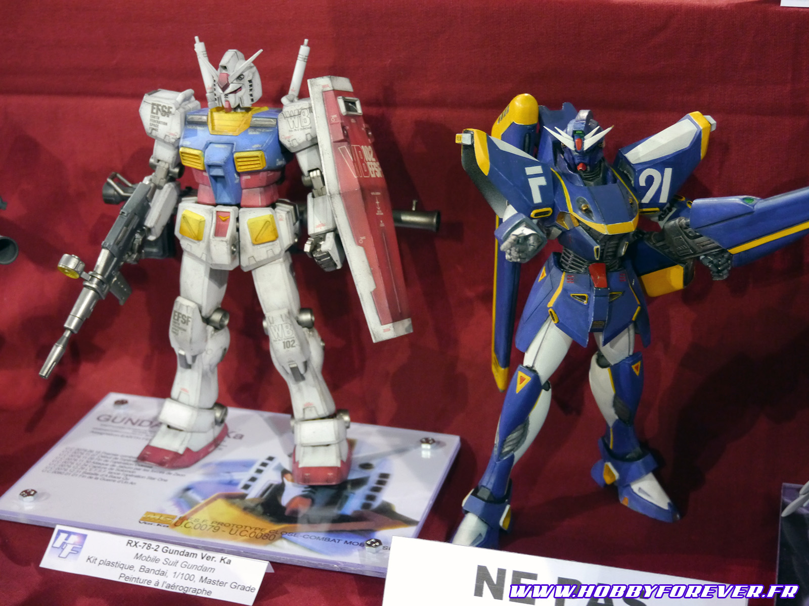 MG RX-78-2 Gundam Ver.Ka (Zenkuro) et Gundam F91 (Youli)