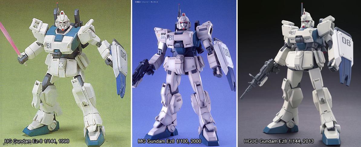 HG, MG et HGUC Gundam Ez-8