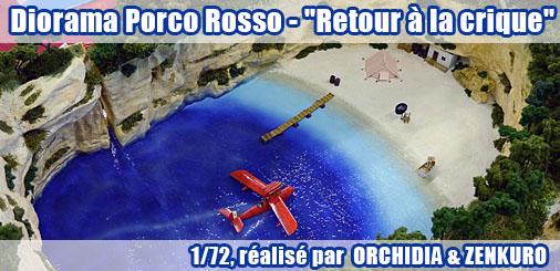 """Diorama Porco Rosso - """"Retour à la crique"""""""