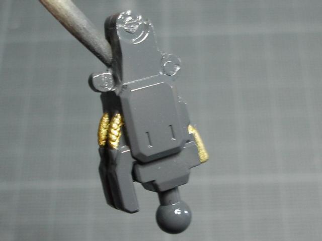 Les câbles ont été peints en doré