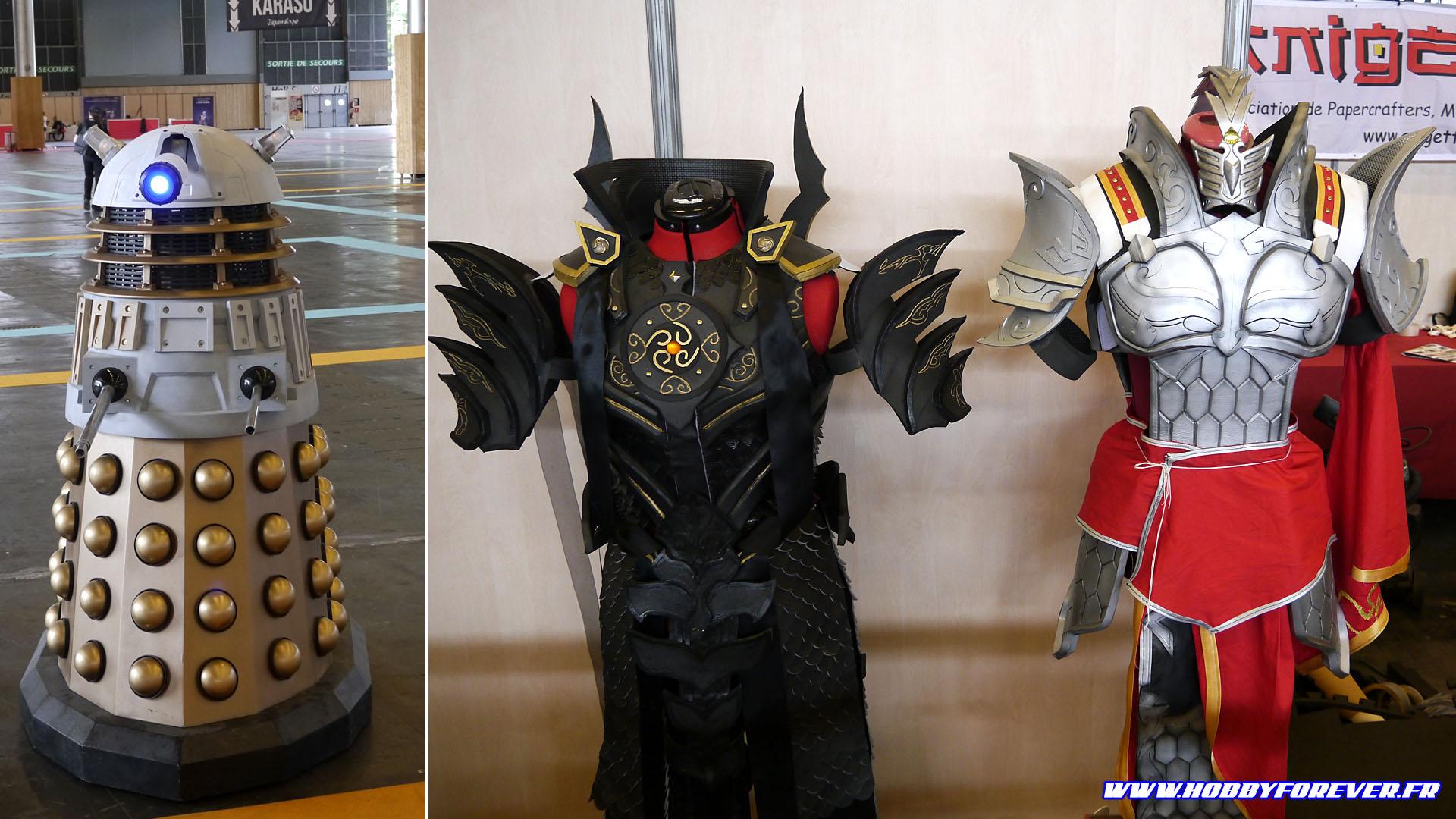 Le Dalek d'Isamu, vice président de l'Anigetter, et les armures de Vanichigo