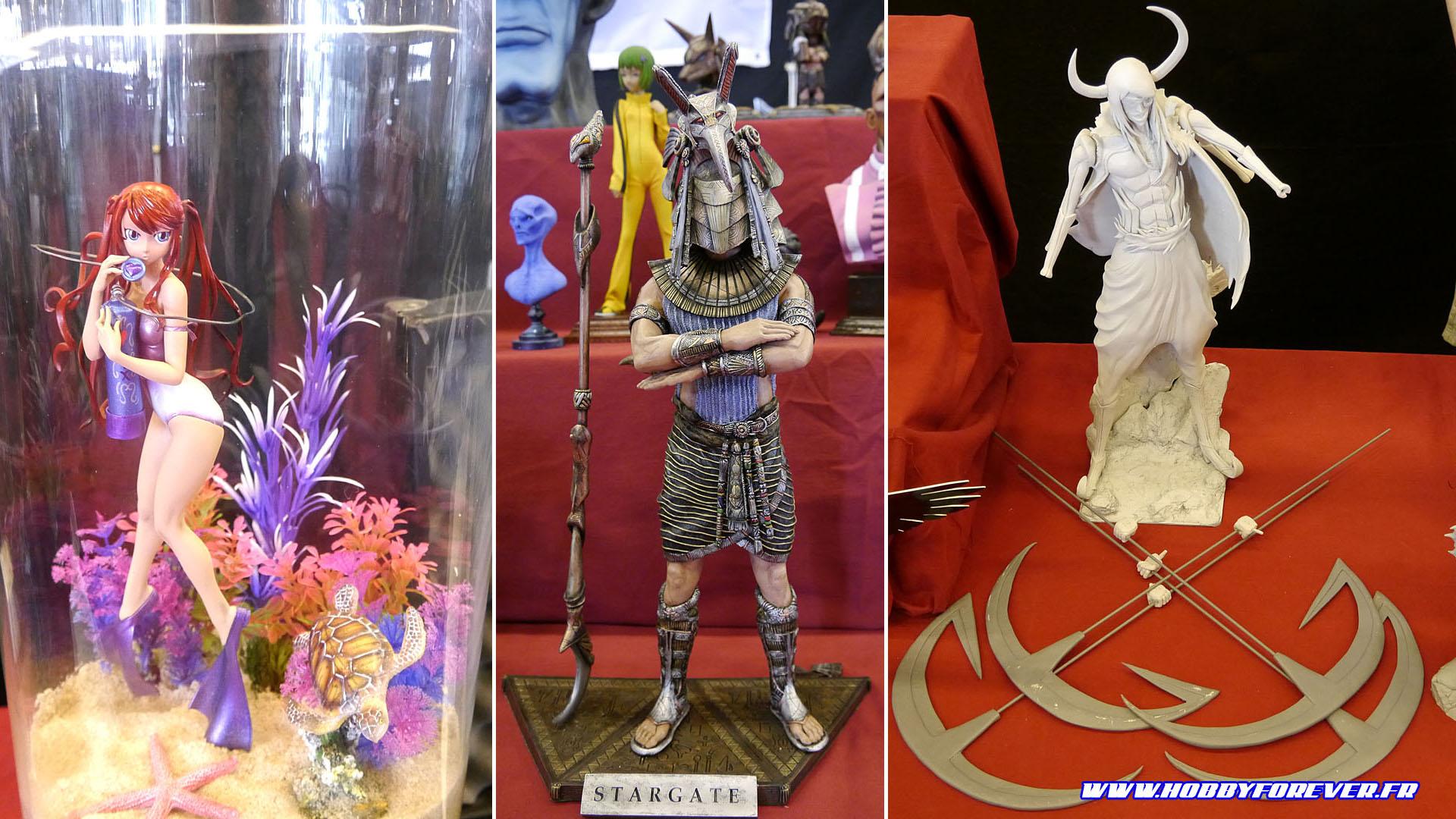 De superbes figurines exposées sur le stand !