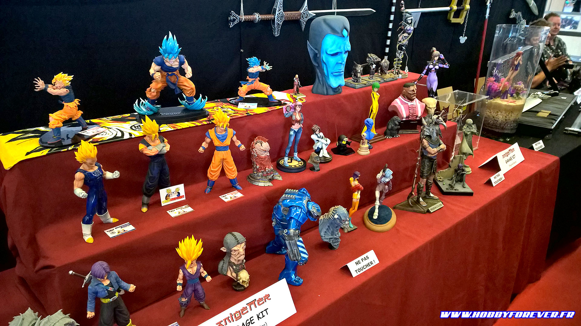 Les figurines DBZ recolorées de Chris Figurine et les garage kits de Passion Garage Kits