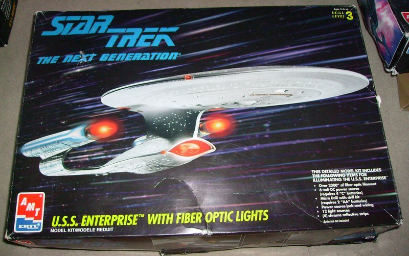USS Enterprise with fiber optic lights - AMT/ERTL
