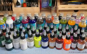 Les peintures solvantées pour aérographe Graphic et Sparkle de StardustColors